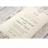 Ivory Victorian Charm Wedding Invite Design