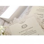 Ivory Victorian Charm Wedding Invitation Card Design