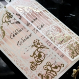 Ivory Victorian Gates Wedding Invite Design