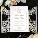 Ivory Victorian Gates with Foil Invite Design