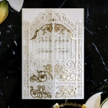 Ivory Victorian Gates with Foil Stationery design