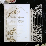 Ivory Victorian Gates with Foil Design