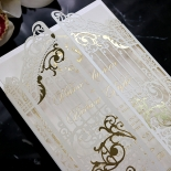 Ivory Victorian Gates with Foil Stationery invite