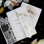 Ivory Victorian Gates with Foil Wedding Invite Design