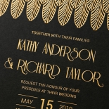 Jeweled Ikat Wedding Invite Card