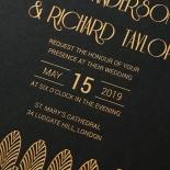 Jeweled Ikat Invite Card Design