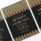 Jeweled Ikat Wedding Invite