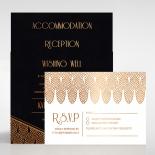 Jeweled Ikat Invitation Card Design