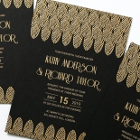 Jeweled Ikat Wedding Invitation Card