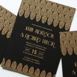 Jeweled Ikat Wedding Card