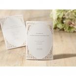 Laser cut Bliss Wedding Card Design