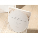 Textured invitation card with golden frame