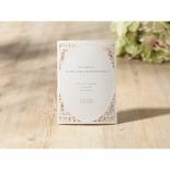 Laser cut Bliss Wedding Invite Card Design