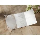 Three fold invite with vintage die cut designs