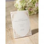 Flat digital ink on vintage gold designed frame invitation