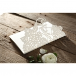 Laser Cut Floral Wedding Wedding Card Design