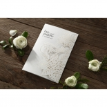 Laser Cut Floral Wedding Invite Card Design