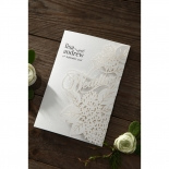Laser Cut Floral Wedding Card Design