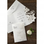 Laser Cut Floral Wedding Wedding Invitation