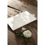 Laser Cut Floral Wedding Wedding Invite Card Design