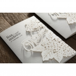 Laser Cut Floral Wedding Invite