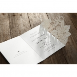 Laser Cut Floral Wedding Invitation