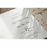 Laser Cut Floral Wedding Invitation Card
