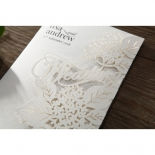 Laser Cut Floral Wedding Invitation Card Design