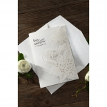 Laser Cut Floral Wedding Invitation Design