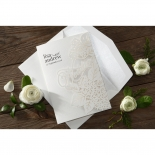 Laser Cut Floral Wedding Wedding Invitation Card Design