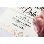 Luxe Rhapsody Wedding Invite