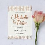 Luxe Rhapsody Wedding Invitation Card