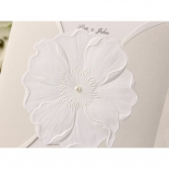 Flower and pearl designed traditional wedding card sleeve