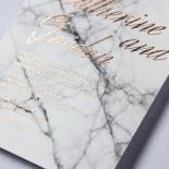 Marble Minimalist Wedding Invite Card