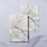 Marble Minimalist Invite Card Design