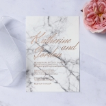 Marble Minimalist Wedding Invitation