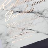 Marble Minimalist Invite Card