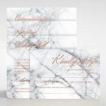 Marble Minimalist Wedding Invitation Card