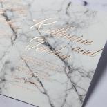 Marble Minimalist Wedding Card