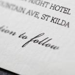 Modern Crest Invite Card Design