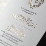 Modern Crest Wedding Invite