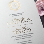Modern Crest Invite Card