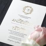 Modern Crest Invitation Card
