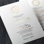 Modern Crest Invitation Card Design