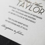 Modern Crest Wedding Invitation Card