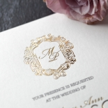 Modern Crest Wedding Card
