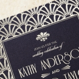 Modern Deco Wedding Invite