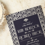 Modern Deco Invitation Card
