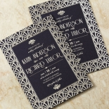 Modern Deco Wedding Invitation Card