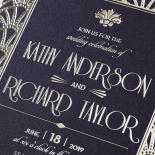 Modern Deco Wedding Card